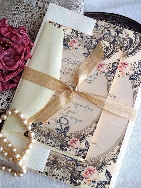 Invitaciones para bodas vintage.
