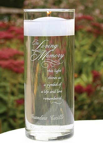 Memorial candle.