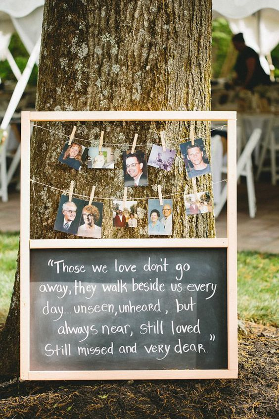 In loving memory wedding tribute.