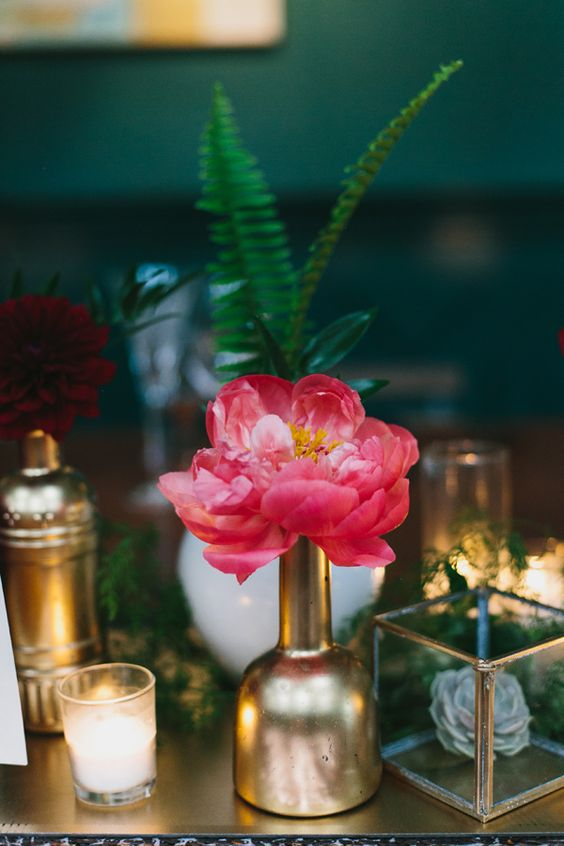 A modern wedding with vintage flair at The Fig House in L.A.