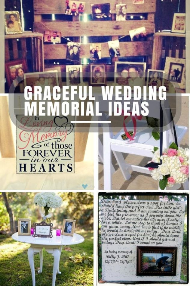 Graceful & unique wedding memorial ideas. Memory table with pallet backdrop for a peach, coral & mint rustic-chic barn wedding | In loving memory of those forever in our hearts sign | Reserve a chair for your loved ones who are no longer here | A simple and delicate wedding memorial table | In Loving Memory of Dad wedding picture frame