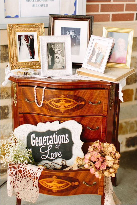 Delicieux Classy Wedding Memorial Table With Rose Gold Accents. A Delicate Way To Say  We Are