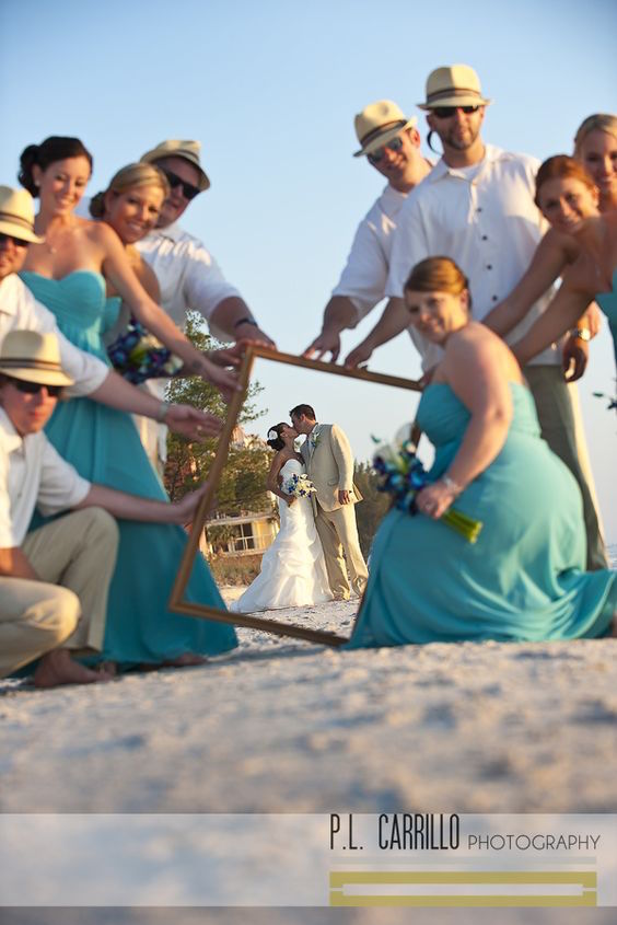 Beach wedding style ideas captured by P.L. Carrillo Photography.