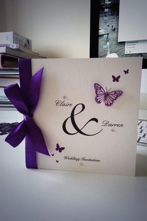 Beautiful butterfly themed wedding invitations.
