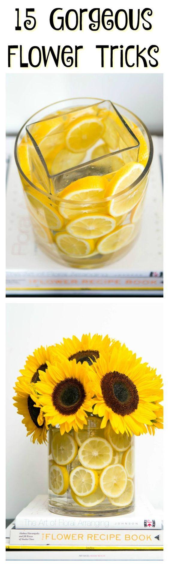 Trucos con flores que te asombrarán.