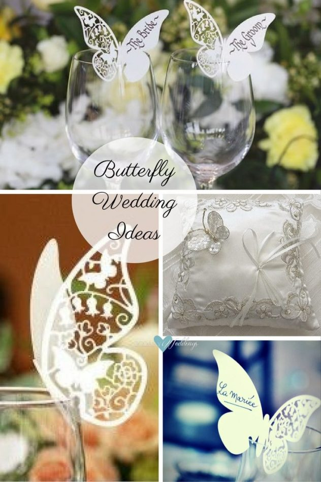 Butterfly wedding ideas: Want a butterfly wedding theme? | Butterfly wedding theme style decoration ideas | Butterfly wedding ring bearer pillow in cream and gold