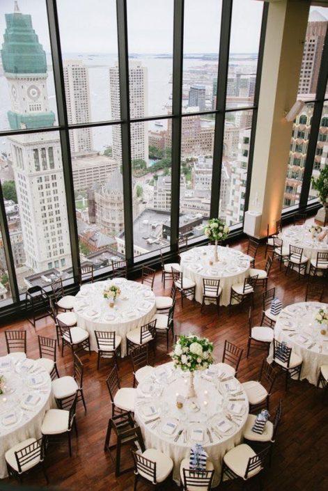 Classic Boston State Room wedding venue: a city wedding style.