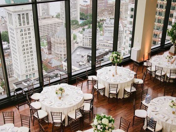 Classic Boston State Room wedding venue: a city wedding style.
