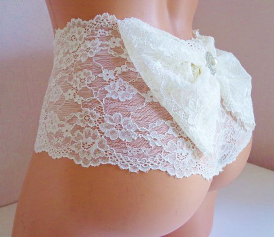 Estas panties son perfectas para la noche de bodas.