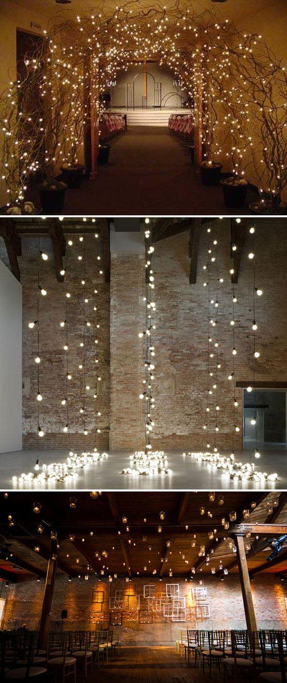 Fairytale-like lights as wedding decor.