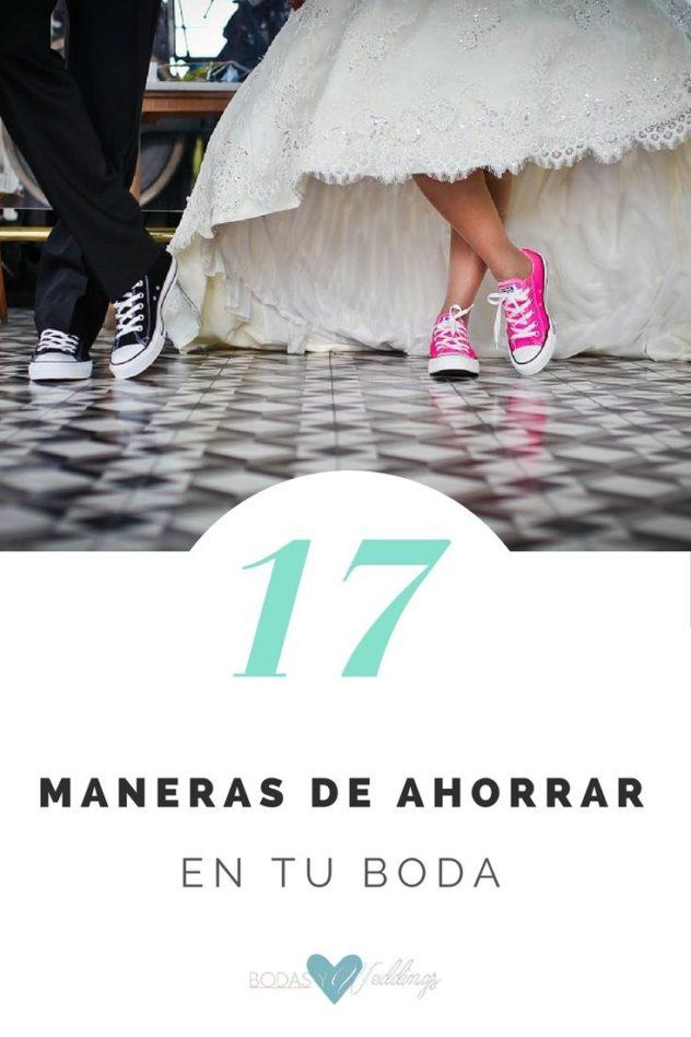 17 ideas para ahorrar en una boda. Para que gastar en zapatos caros si esto es mas cómodo y original!