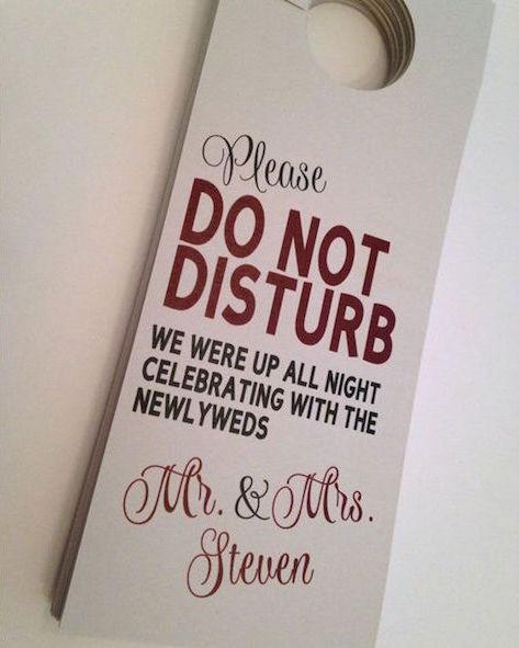 Una buena idea para el descanso de todos incluso los novios.