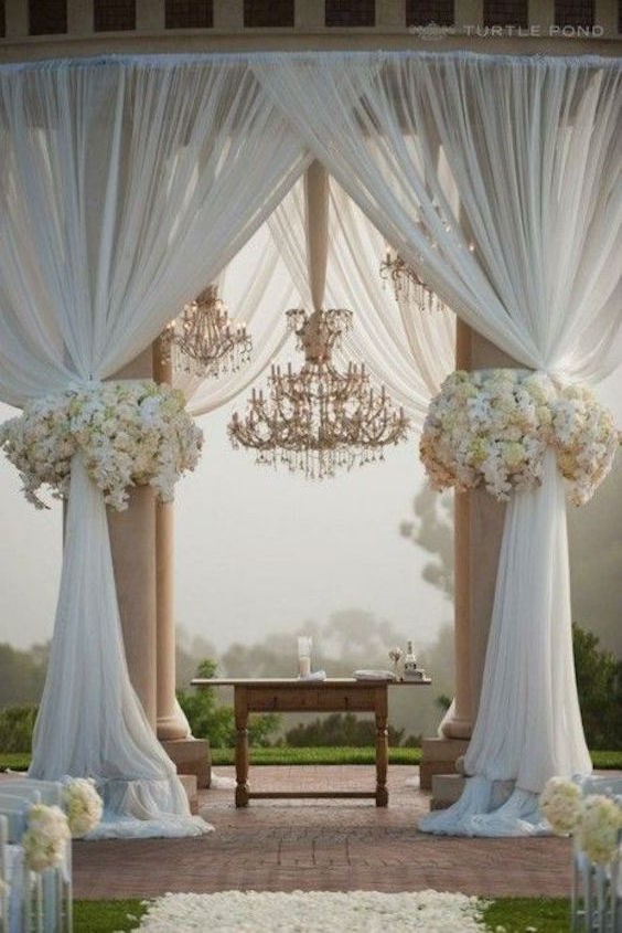 Outdoor wedding ceremony.