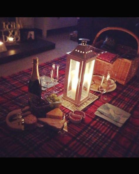 Un picnic en el living room.
