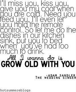 Adam Sandler - The wedding singer.