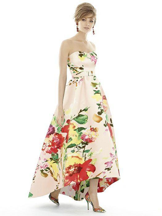Blush bouquet sateen twill dress