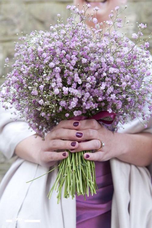 Bouquet de Gypsofilas fotografiado por FO Photography.