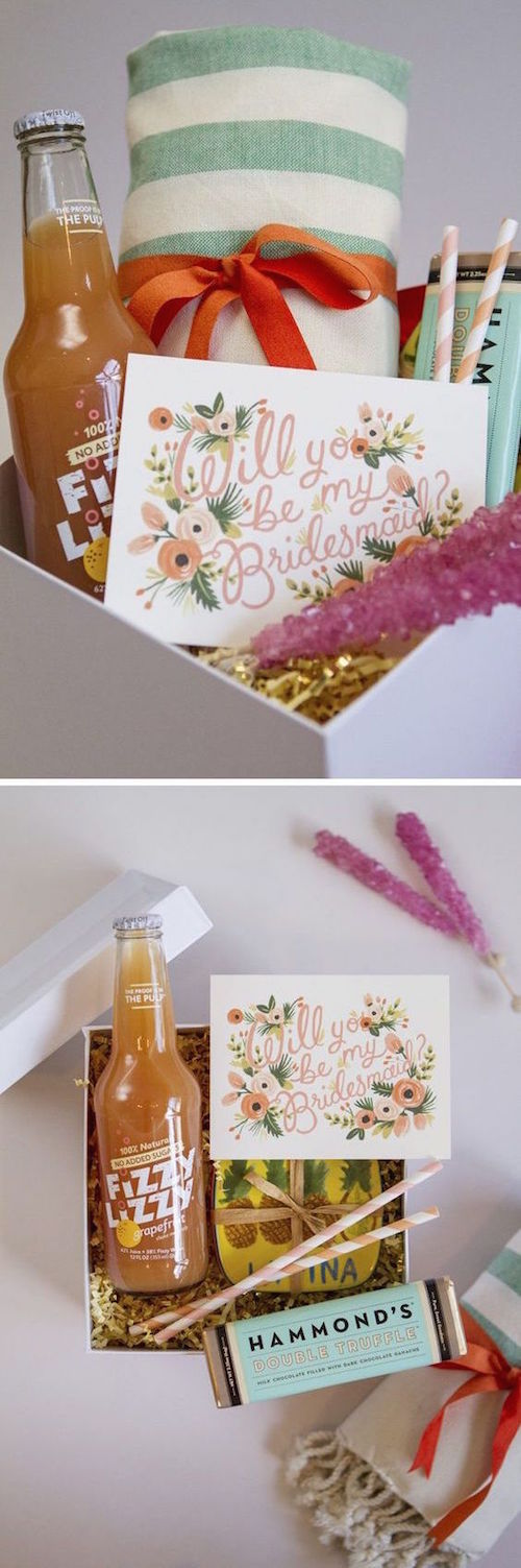 "Unique bridesmaid gifts. How about making your very own ""Will You Be My Bridesmaid"" boxes?"