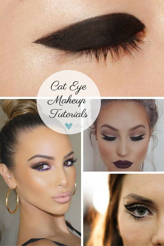 Cat eye makeup styles. Thick mod cat eye makeup. Beautiful cat eyes. Double winged cat eye makeup.