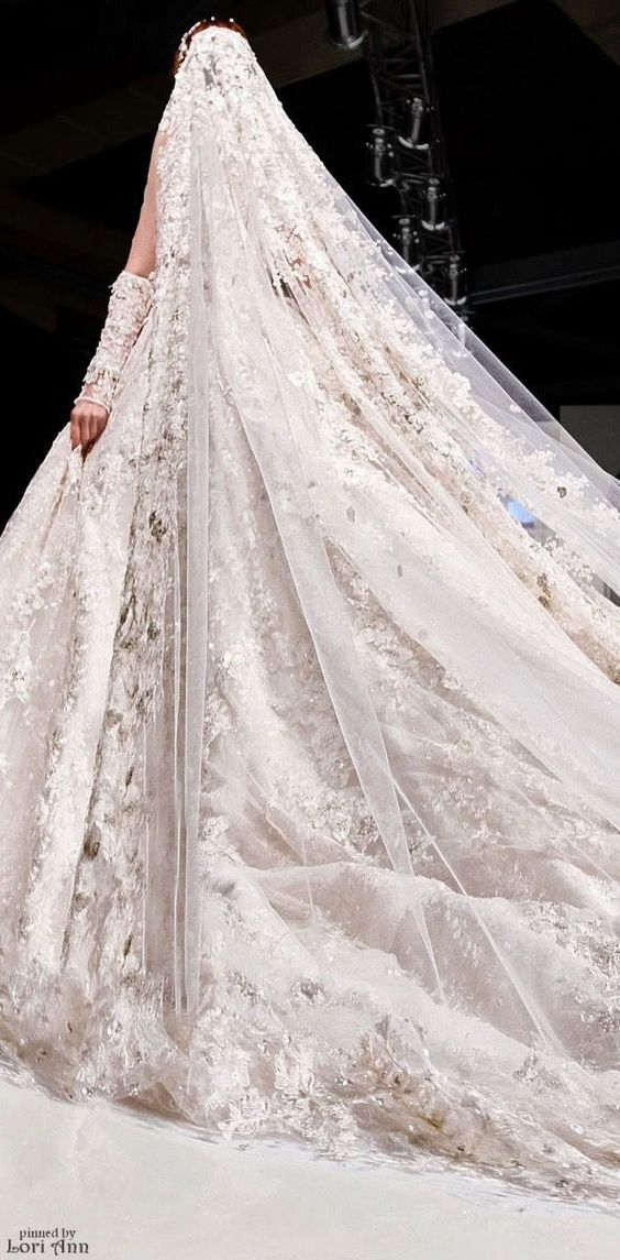 Cathedral veil by Shady Zeineldine couture 2016. Dreamy!