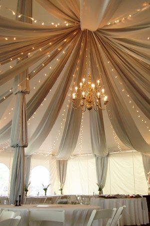 Ideas para iluminar carpas para fiestas de boda.