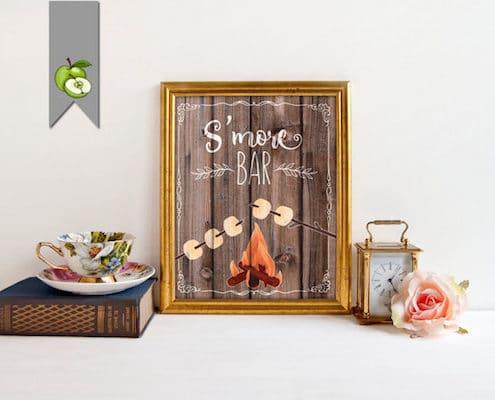 Rustic wood carteles para bodas