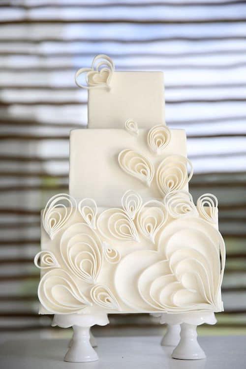 Whimsical white wedding style