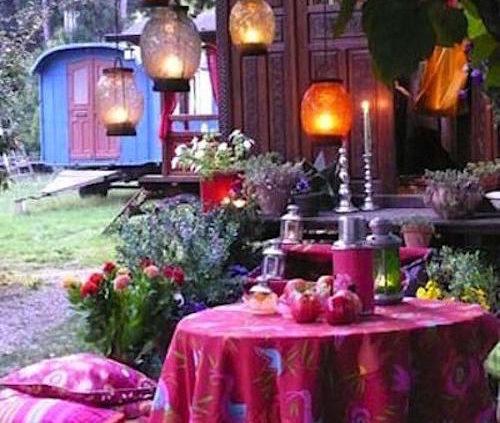 Bellísimo jardín bohemio.