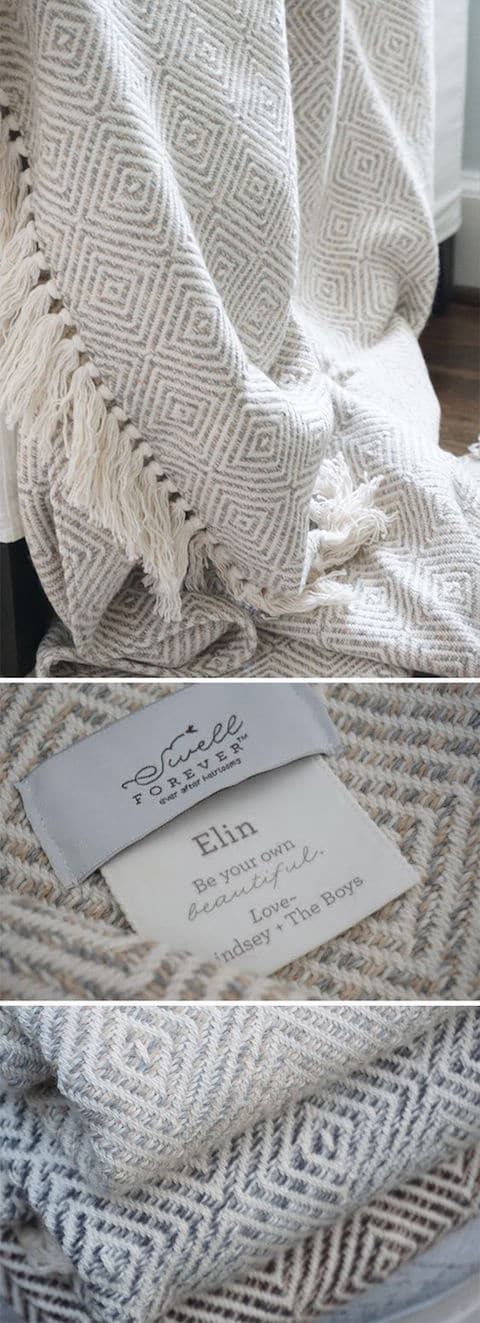 The Alpaca Forever Blanket Collection from Swell Forever. American made and it supports adoption.