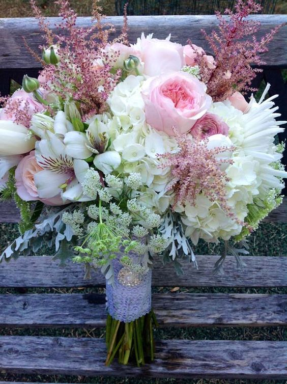 Un bouquet de novia otoñal.