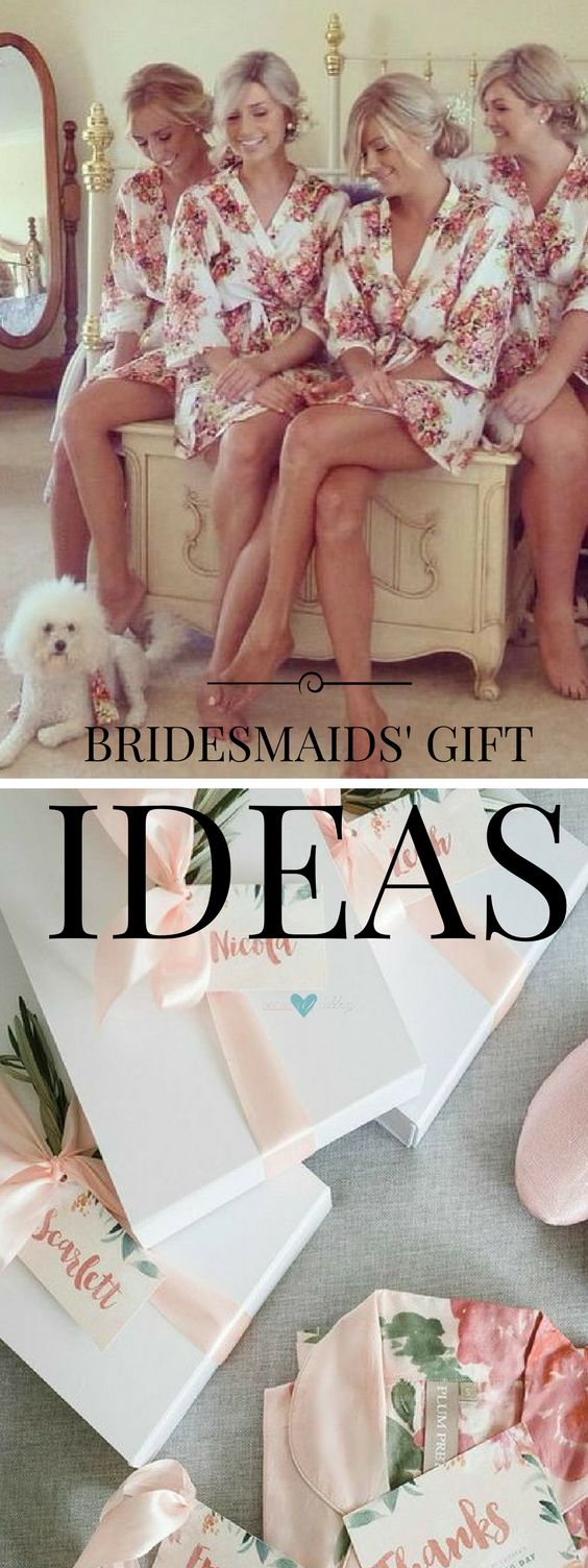 Bridesmaids' gift ideas: robes!!