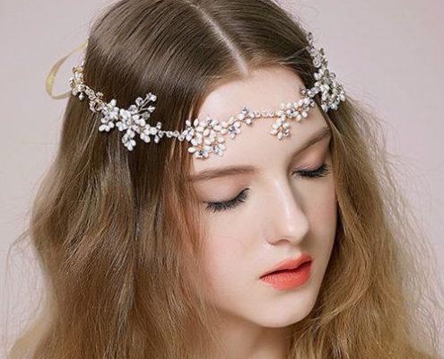 corona para novias con perlas