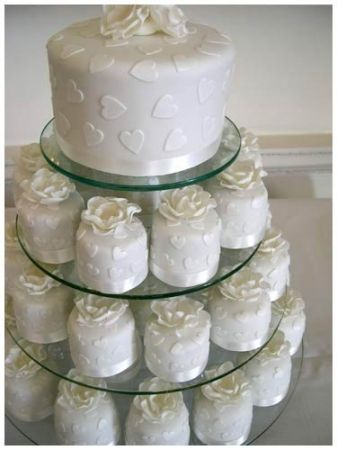 Like the idea of cake for cutting and cupcakes for guests.
