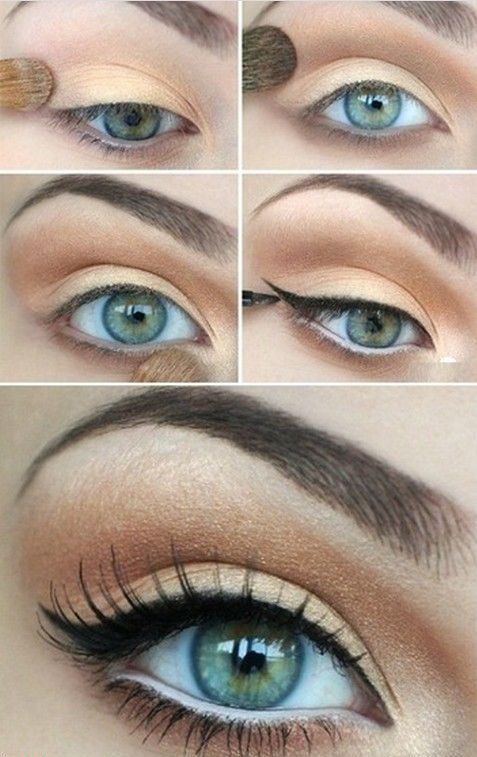 Daytime cat eye tutorial: This natural cat eye makeup is amazing and you can do it really fast!