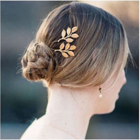 vintage gold leaf hair pins