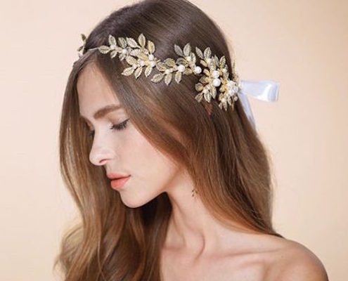 nature inspired wedding accessory ties in the back