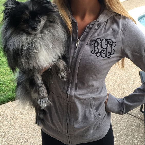 Who doesn't love a monogrammed hoodie?