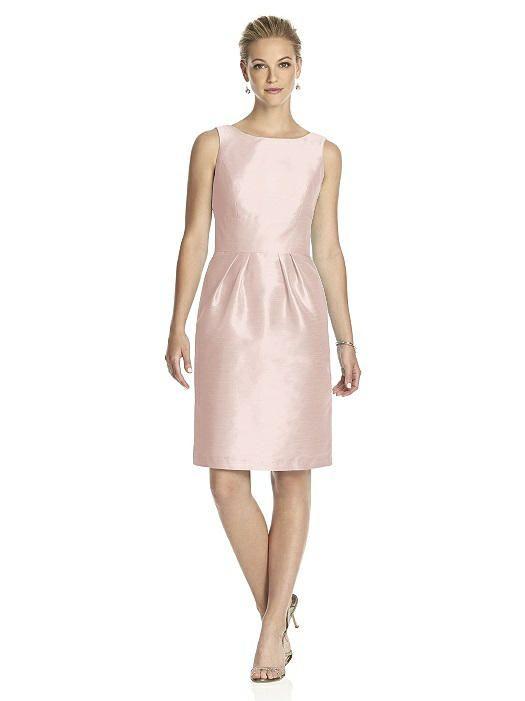 vestido madrina rosa perlado