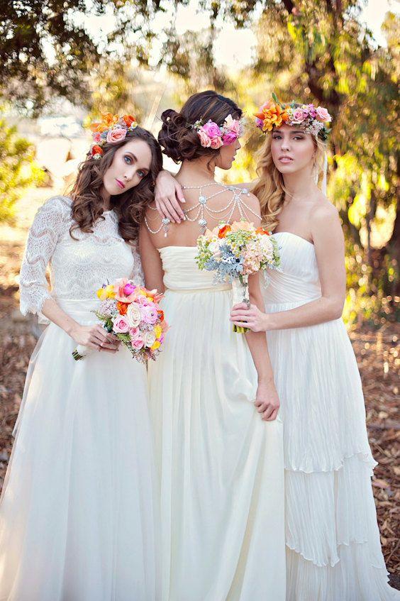 Enchanting detachable long tulle skirt 2-piece wedding dresses.