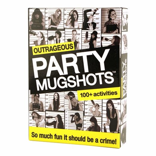 Bachelorette party mug shots game is a super-fun game to play out at the bar. This game is full of dirty bachelorette trivia, and dares that will have you snorting with laughter!