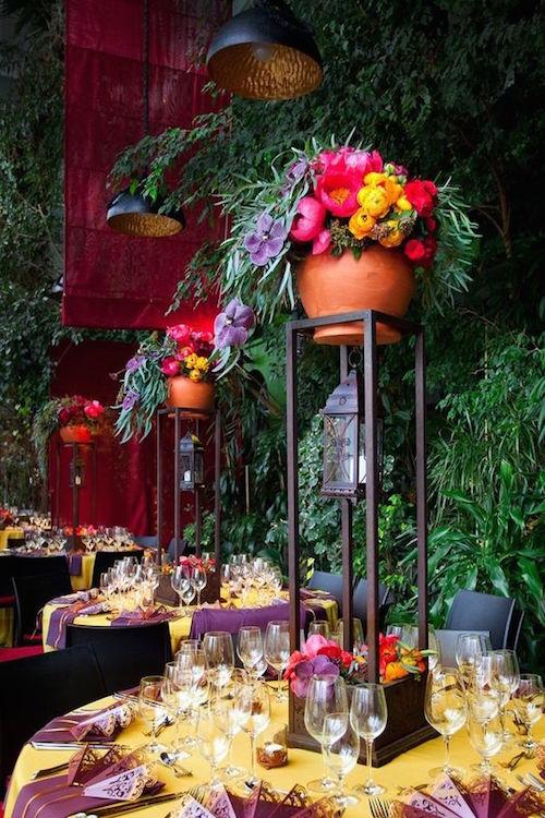 Elegantes ideas de recepción de bodas del diseñador de eventos internacional ArtSize cargadas de colores impecables y una estética muy interesante.