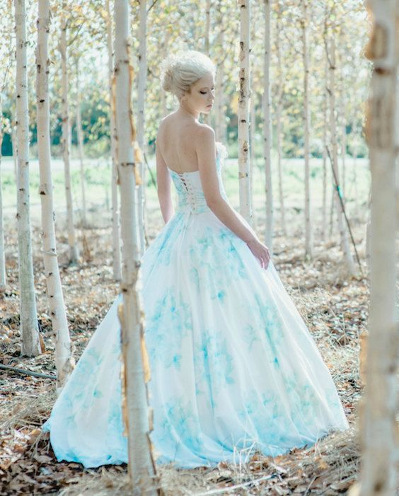 Romantic floral wedding dress in silk and cotton. Suzanne Rothmeyer Photography.
