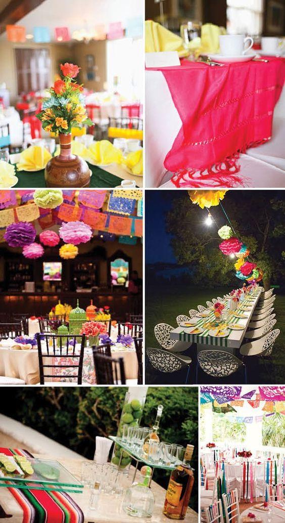 Ideas para fabulosas y divertidas bodas mexicanas.