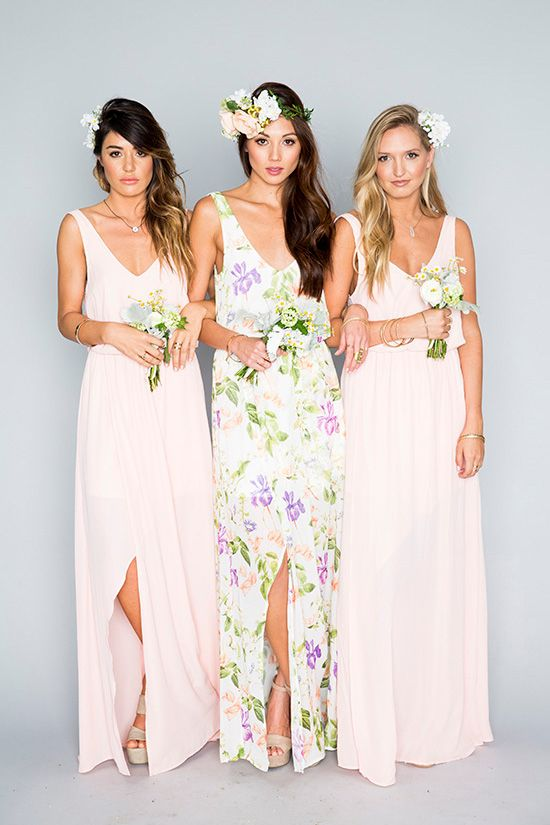 Maid of honor's dresses will stand out on 2017 weddings. The Mumu Wedding Collection.