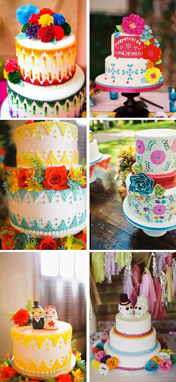 Mexican wedding cake ideas and inspiration.