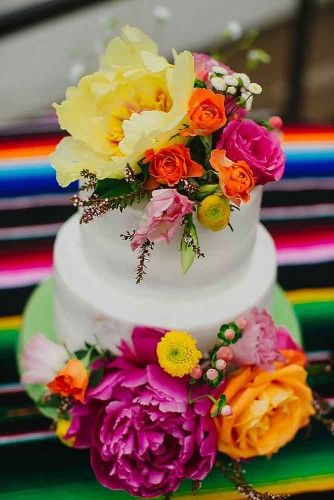 A Mexican wedding cake could be very funny and creative. Needless to say it will be the center of attention, after the bride of course.