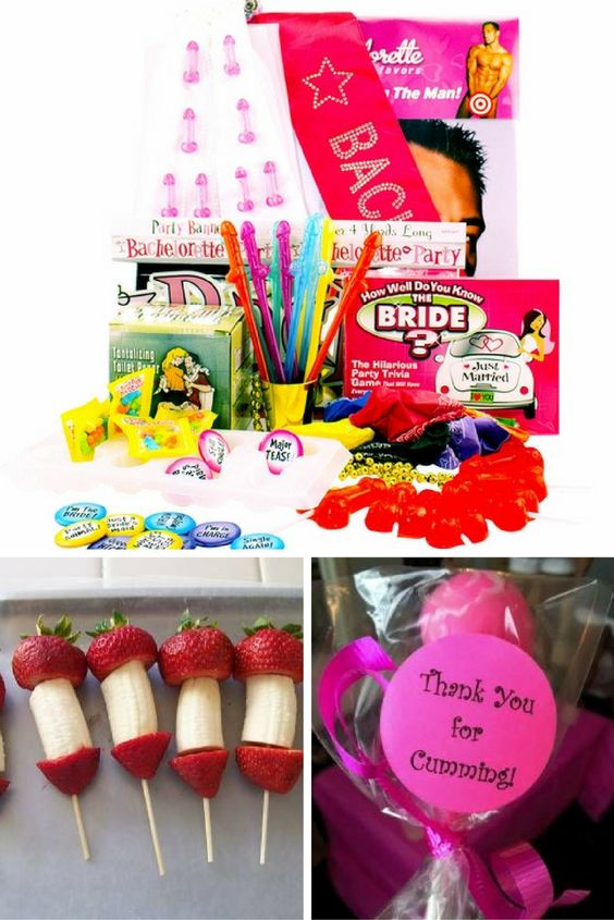 Naughty Bachelorette Party Ideas Kit With Attire Candy Straws Decorations