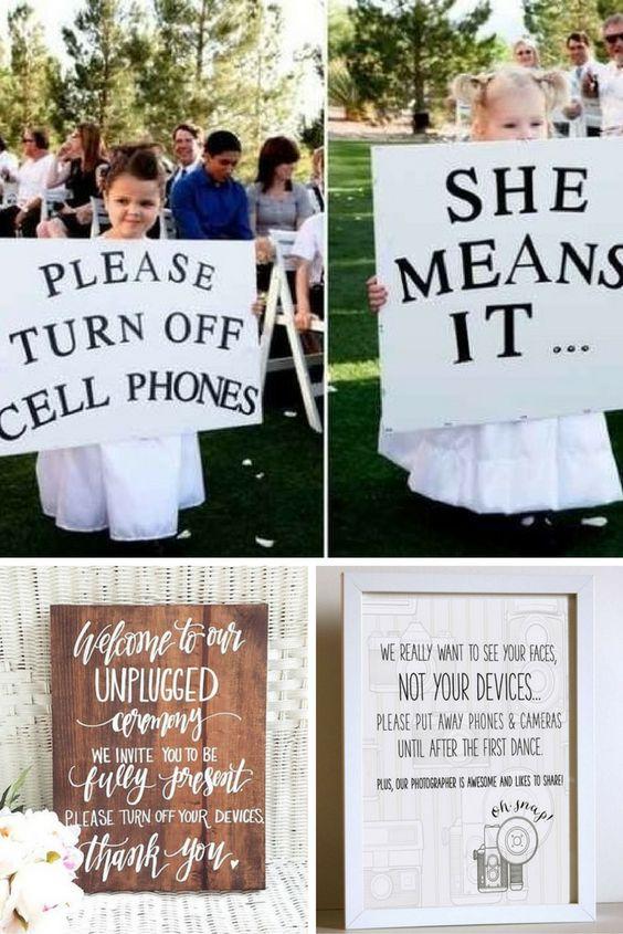 Sayonara Social Media! Carteles para bodas muy sweet para no herir susceptibilidades. Aprovéchalos! ;)