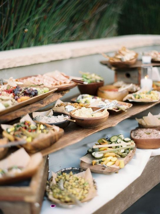 Sustainable catering: Using organic and locally sourced food will continue to be important as more and more couples are making the environment a priority with their catering. Lindsay & Heather, LVL Weddings & Events.