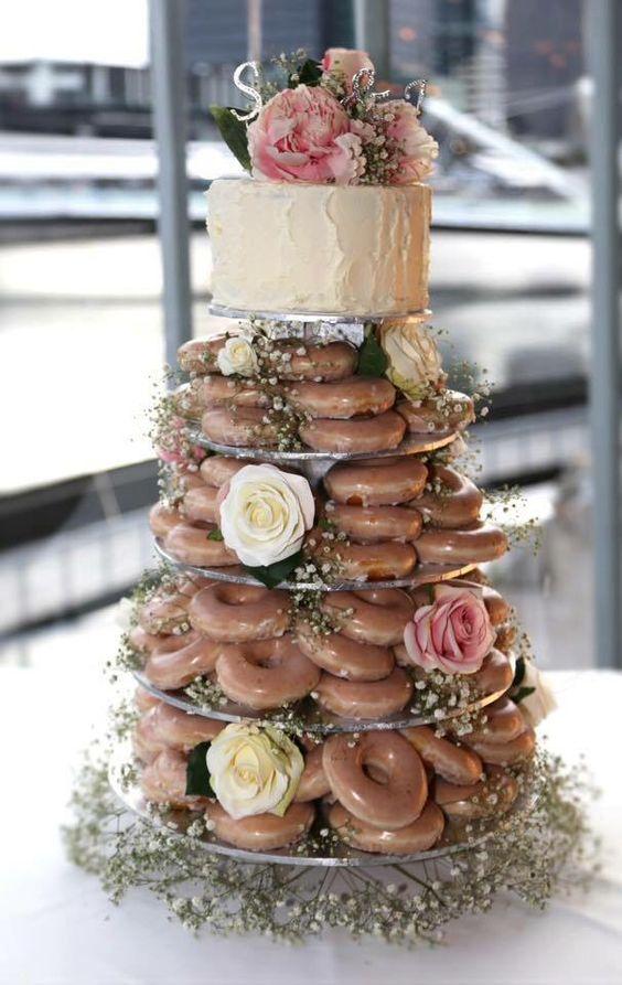 Tendencias en bodas 2017: las tortas de doughnuts!